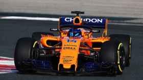 Fernando Alonso, en el nuevo McLaren, la semana pasada.