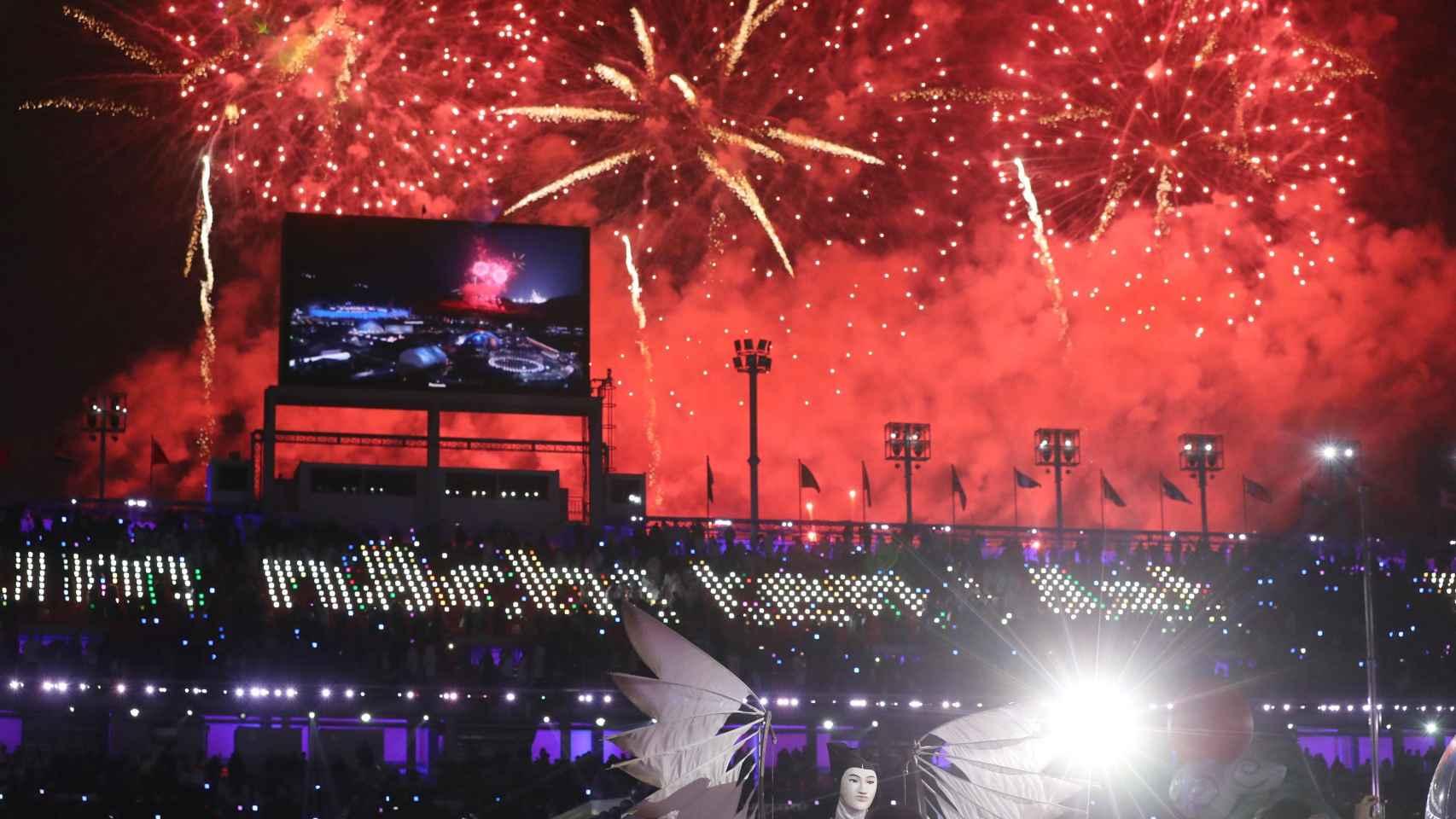 Así se cerraron los Juegos Olímpicos de invierno en Pyeongchang.