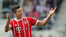 Lewandowski, con el Bayern. Foto fcbayern.com