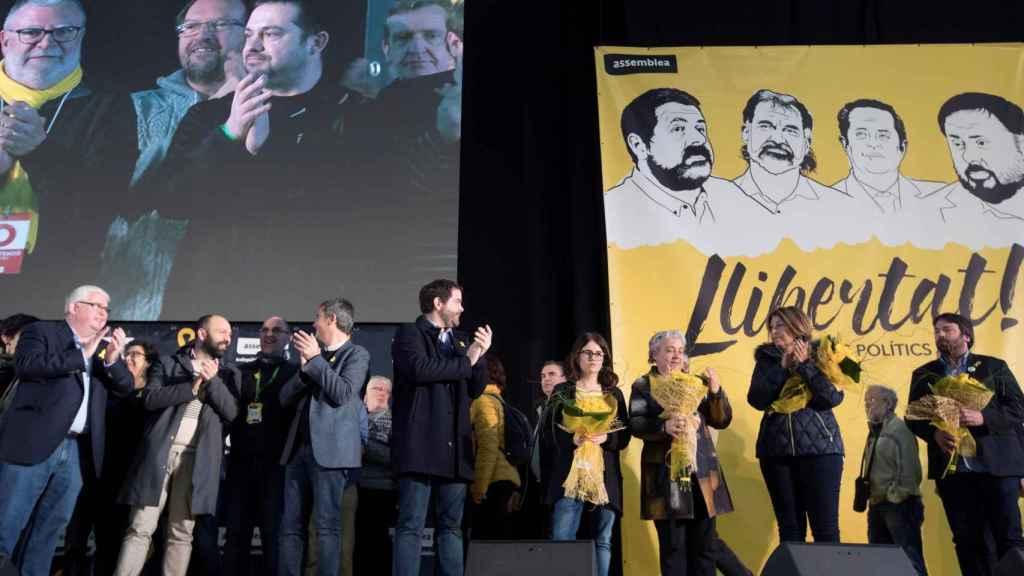 Imagen de la asamblea general de la ANC celebrada  hoy en Barcelona.
