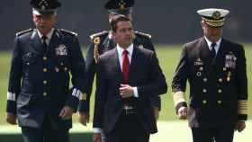 Enrique Peña Nieto durante la celebración del día de la bandera