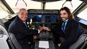 Juan José Hidalgo, presidente de Globalia, junto al CEO del grupo, Javier Hidalgo.