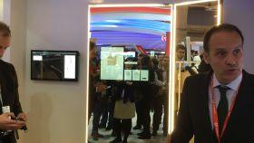 Daniel Ballarat, Enterprice Business Unit de Vodafone, durante la presentación del probador digital.