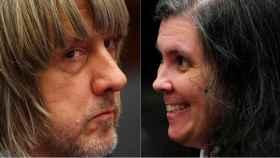 David y Louise Turpin durante la vista judicial.