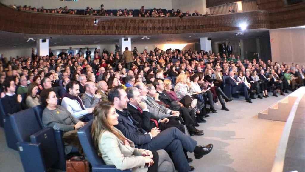 Jose Ramón Bauzá (segundo de la fila) y el resto de asistentes a la charla celebrada en Madrid.