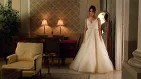 La actriz ya se vistió de novia para su boda en la ficción.
