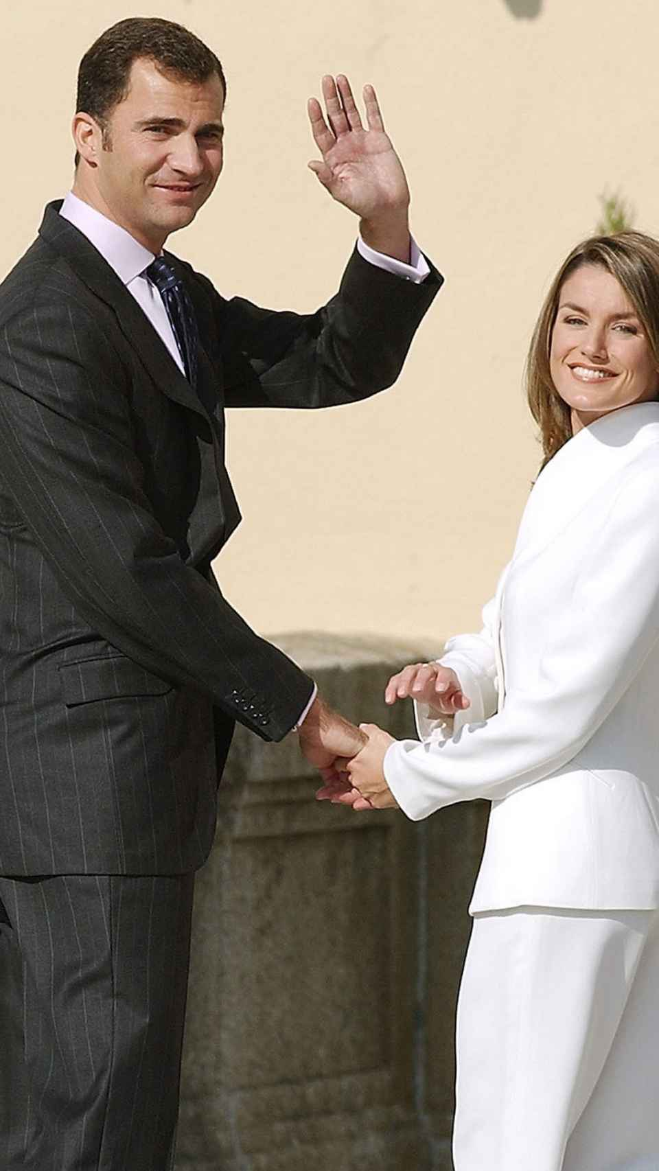 Felipe y Letizia en 2003.