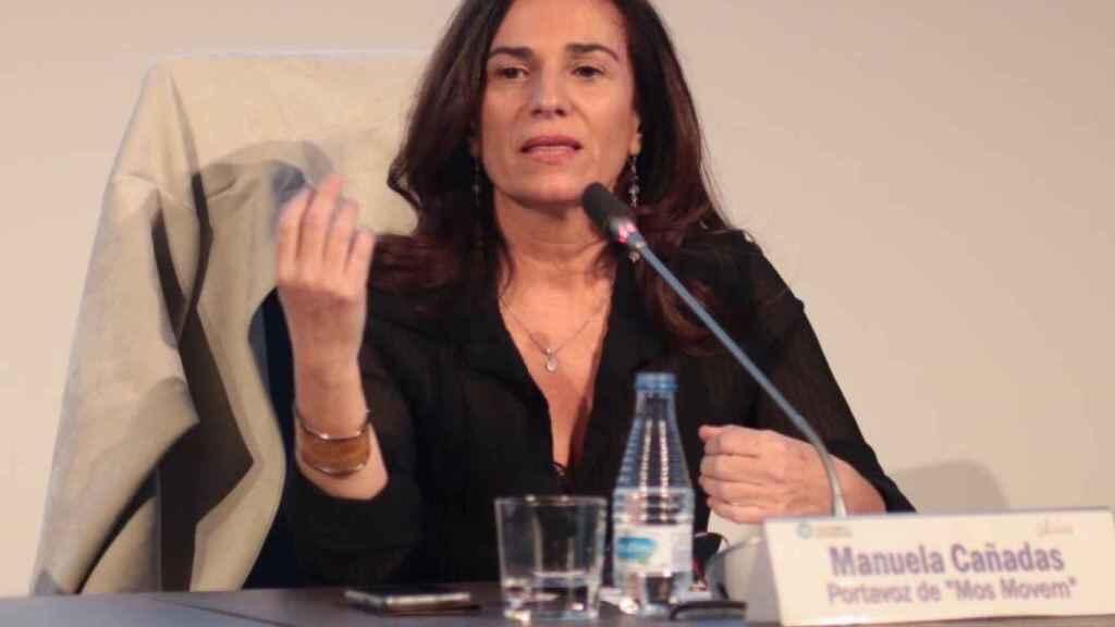 Manuela Cañadas (Mos Movem) durante su intervención en Madrid.