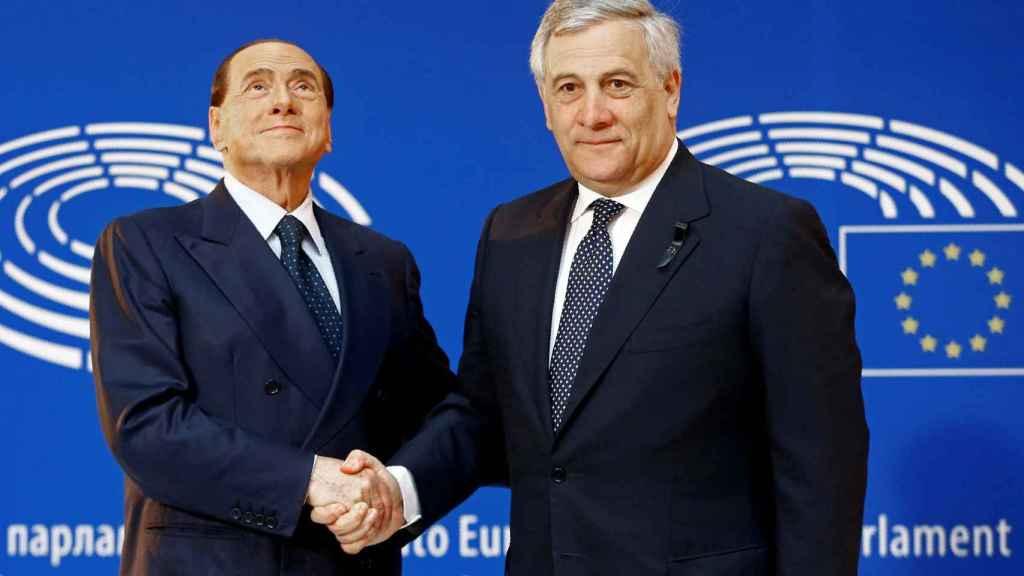 Berlusconi y Tajani en una imagen de 2017