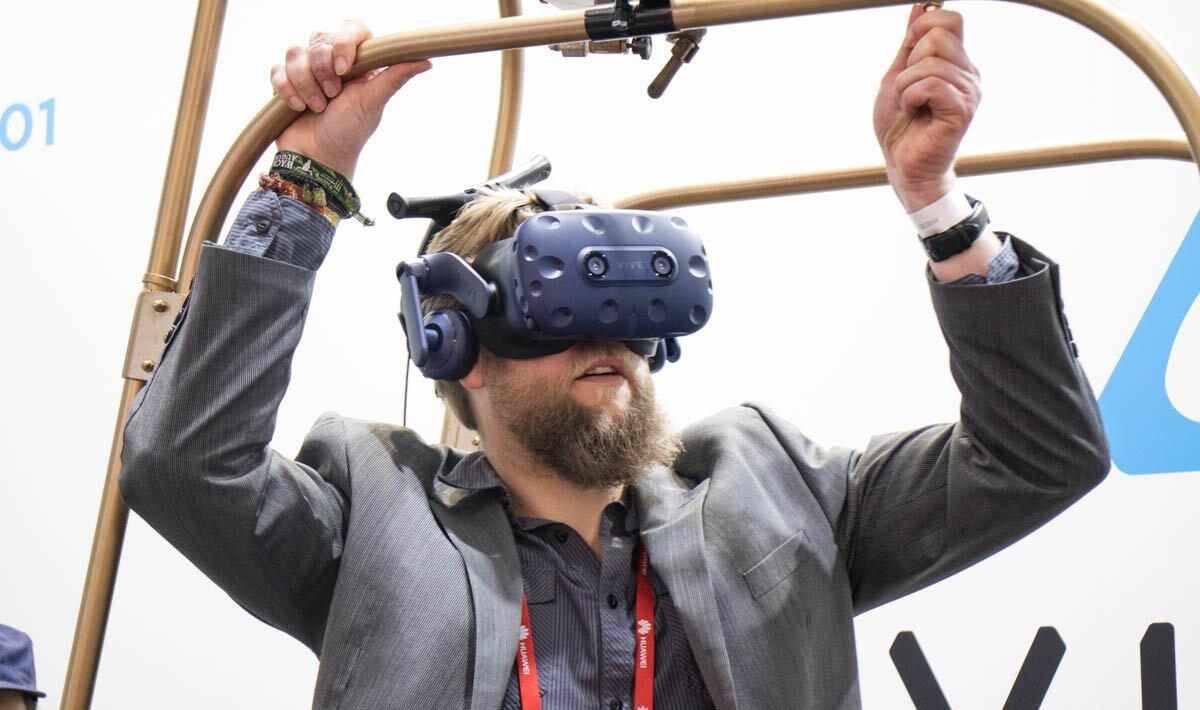 Probamos la última realidad virtual de HTC VIVE en el MWC 2018