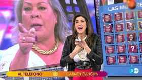 Carmen Gahona hablando con Paz Padilla.