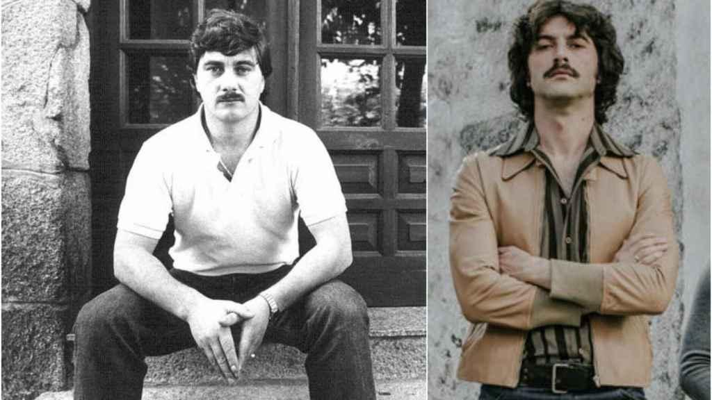 A la izquierda, el narco gallego cuando era joven. A la derecha, el actor Javier Rey caracterizado como Sito Miñanco para la serie.