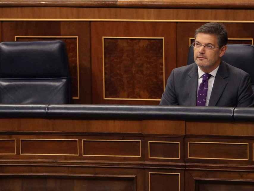 El ministro de Justicia, Rafael Catalá, durante una sesión de control al Gobierno.