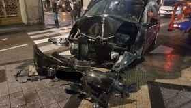 Valladolid-accidente-fray-luis-leon-coche