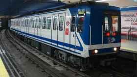 Un vagón de la línea 1 del Metro de Madrid.