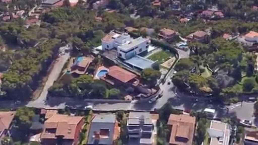 La casa de Leo Messi en una vista aérea.