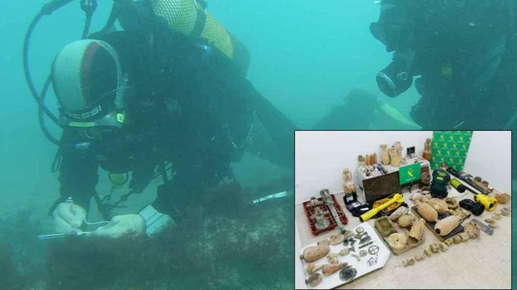 La Guardia Civil ha incautado cuantioso material procedente de yacimientos arqueológicos.