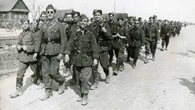 La División Azul estuvo activa entre 1941 y 1943, principalmente en los combates en la Unión Soviética.