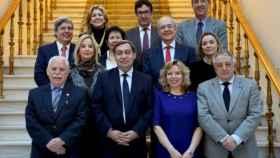 Los miembros del Consejo Fiscal junto a Sánchez Melgar./