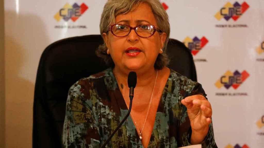 Tibisay Lucena, presidenta del Consejo Nacional Electoral de Venezuela.