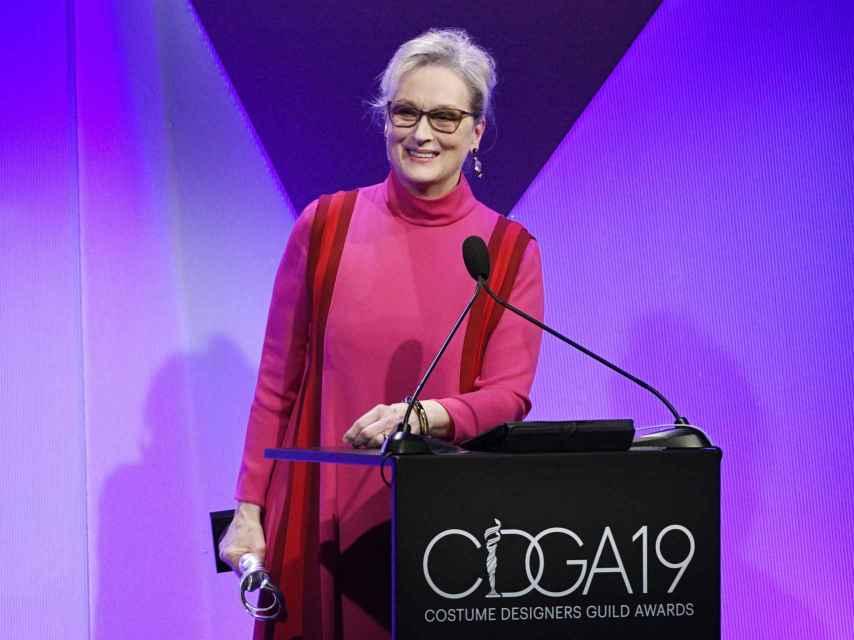 Meryl Streep en la gala del Gremio de Diseñadores. GTRES.