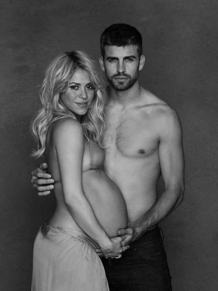 Shakira y Piqué, dos semanas antes de que naciera su primer hijo, Milan.