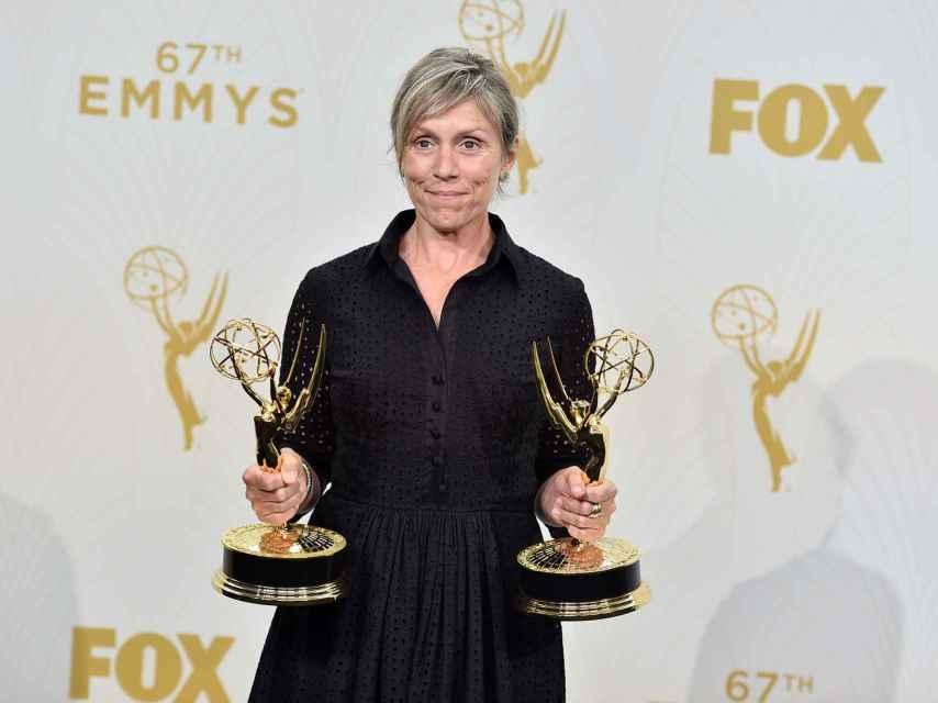 Frances McDormand en los Emmys. GTRES.