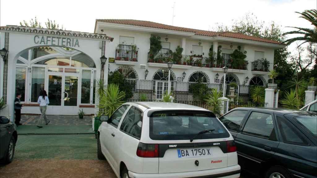 La entrada del desaparecido restaurante 'El paraíso'.