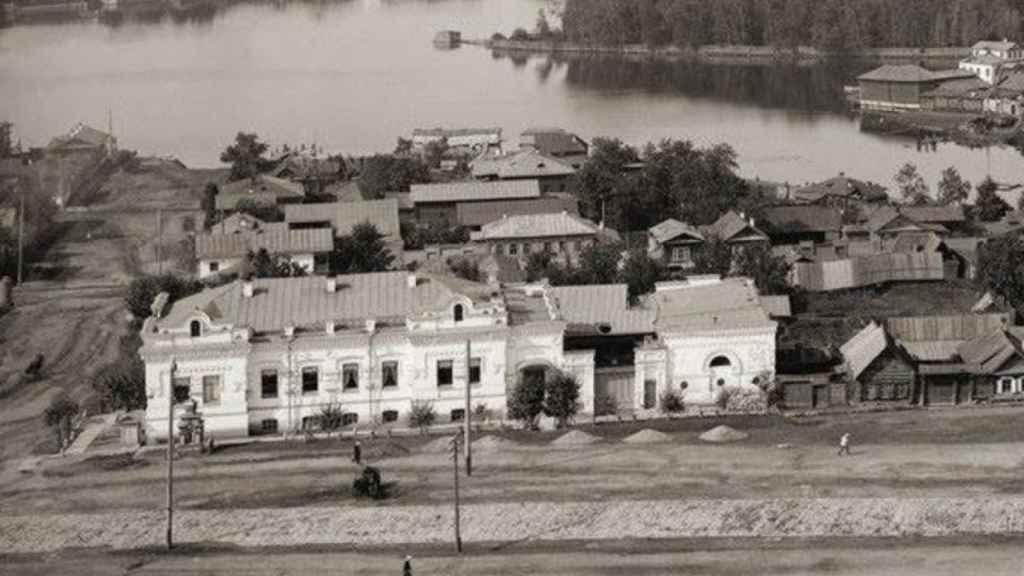 La Casa Ipatiev, adonde fue llevada la familia imperial en Ekaterimburgo.