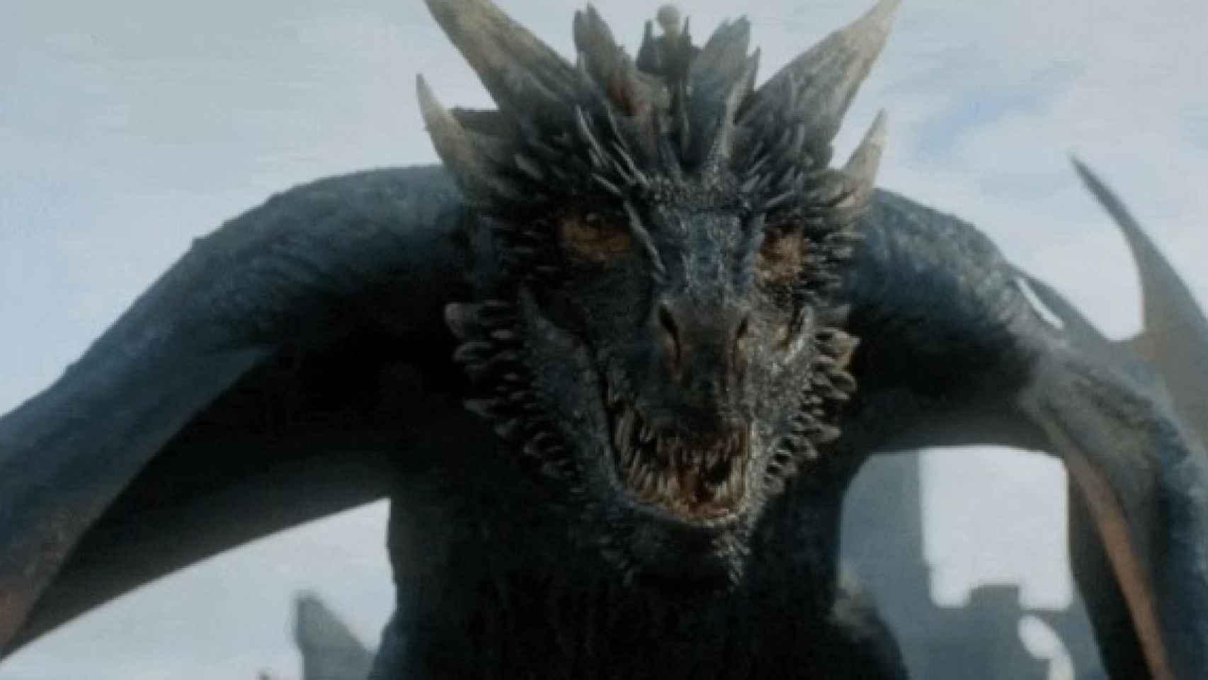 Uno de los dragones de 'Juego de Tronos', serie disponible en HBO y Vodafone TV.