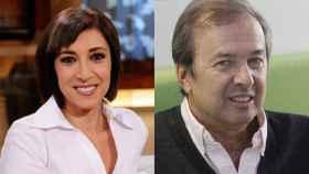 Carmen Ro, autora de Mientras tú no estabas; y Javier Moro, autor de Mi pecado.