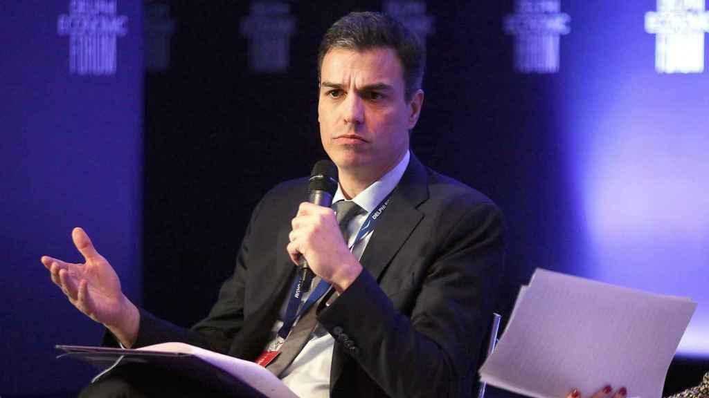 Pedro Sánchez, en el Foro Económico de Delfos.