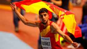Saúl Ordóñez celebra su histórico bronce mundial.