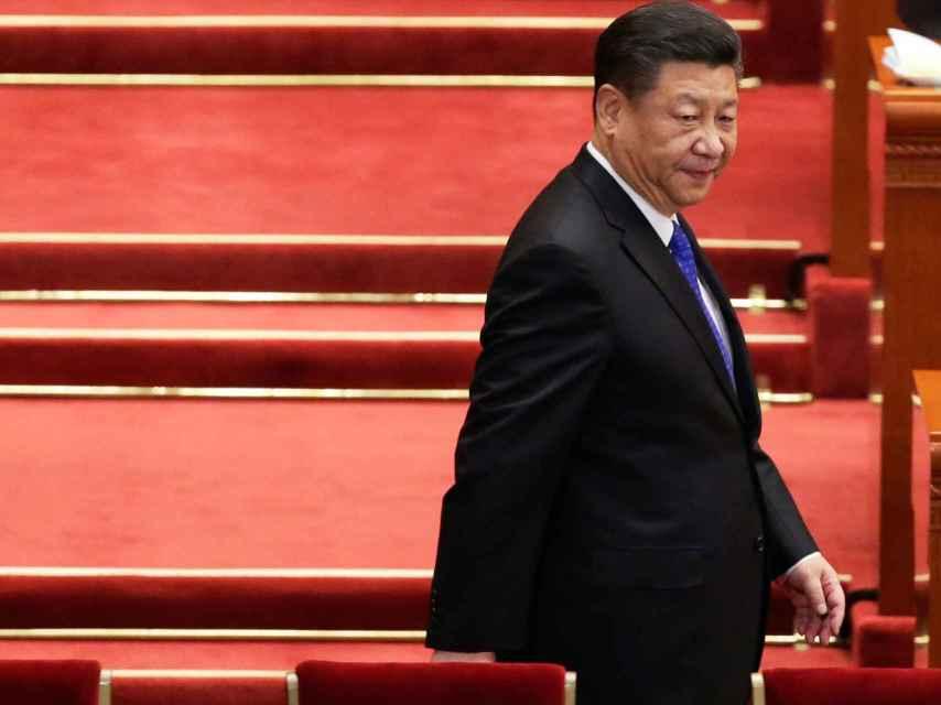 Xi Jinping, en el lugar de celebración de las reuniones.