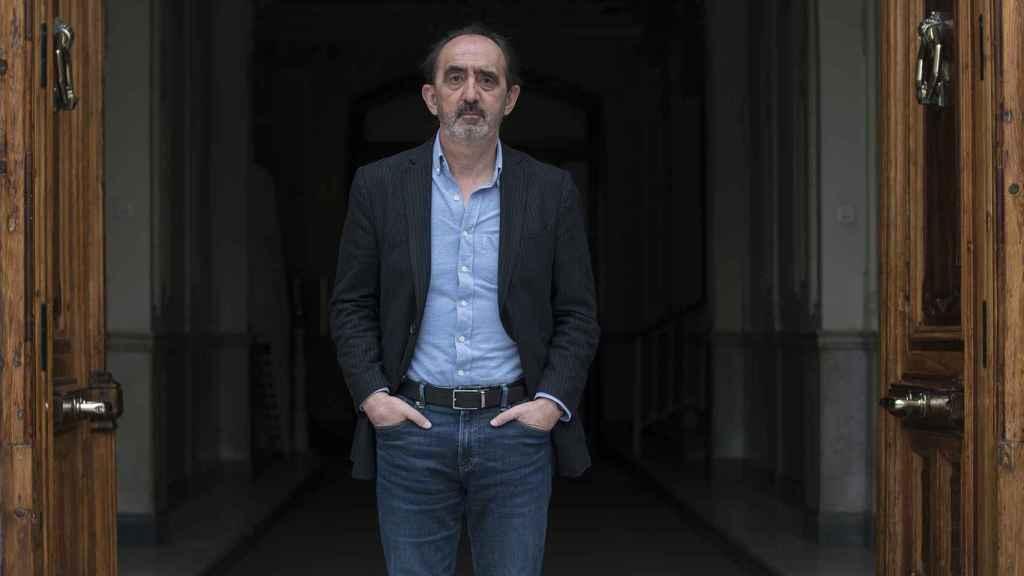 Innerarity, tras la entrevista, en el centro de Madrid.