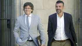 Puigdemont junto a Santi Vila en una foto de archivo.