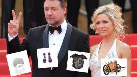 Russell Crowe y su mujer.