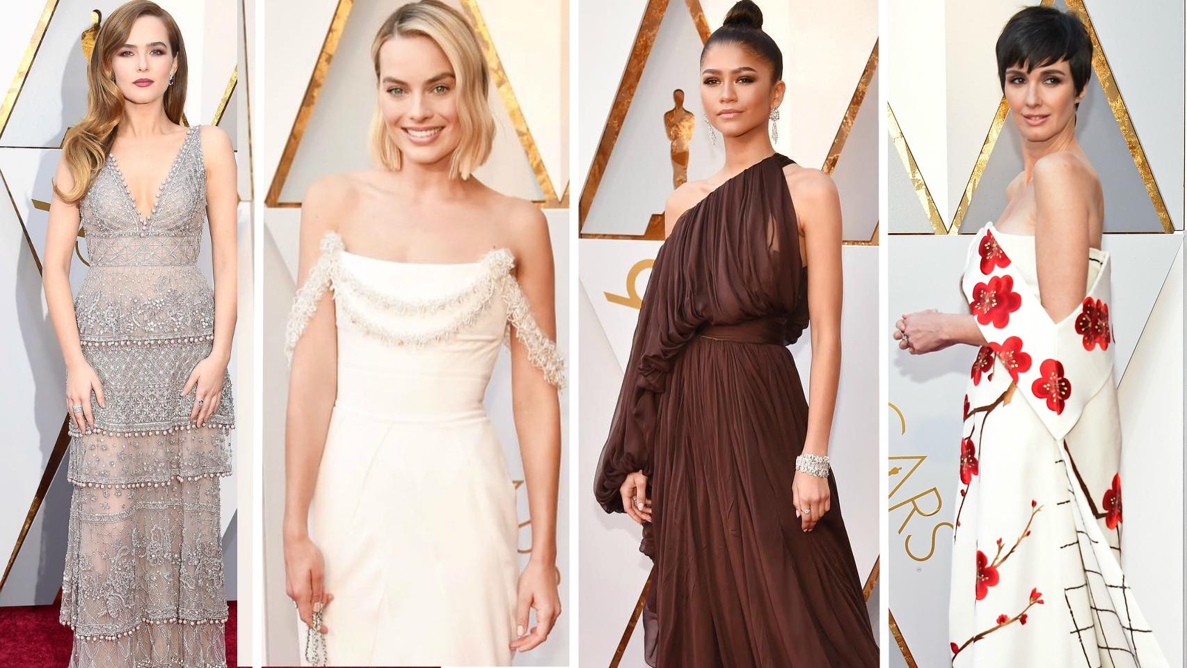 Fotomontaje actrices en los Oscars 2018.