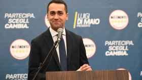 Luigi Di Maio, en la rueda de prensa posterior a las elecciones.