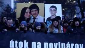 Manifestación por el periodista asesinado junto a su pareja en Bratislava