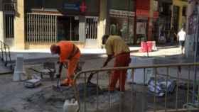obras calle asfaltado valladolid 1