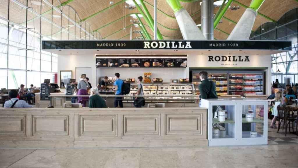 Un restaurante Rodilla en el aeropuerto de Barajas.