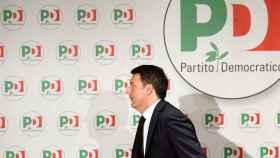Renzi tras anunciar su dimisión este lunes como líder del PD