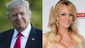 Donald Trump y Stephanie Clifford.
