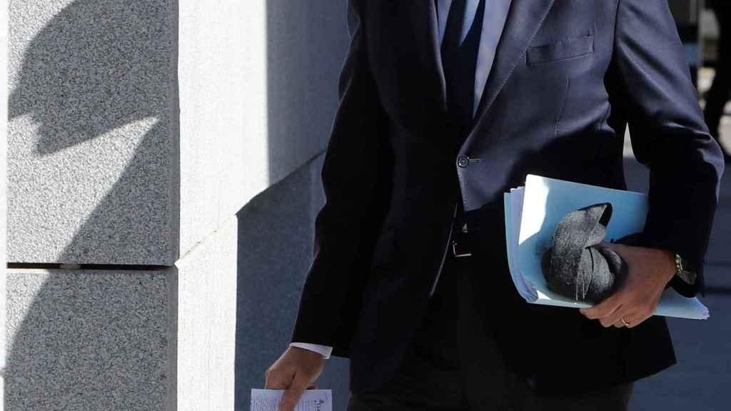 El expresidente de la Comunidad Valenciana, Francisco Camps, a su llegada a la Audiencia Nacional.