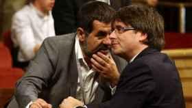 Jordi Sánchez junto a Carles Puigdemont./