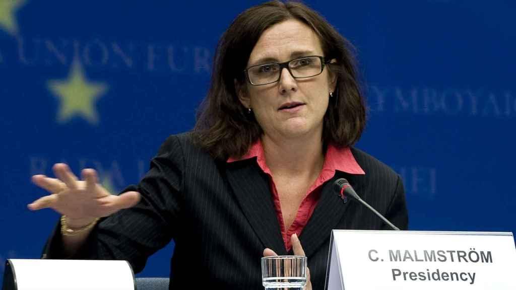 La comisaria de Comercio, Cecilia Malmström