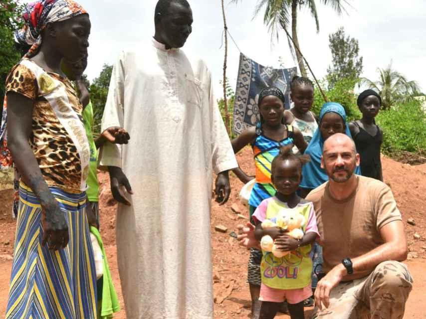El comandante Miguel Ángel Franco en Mali.