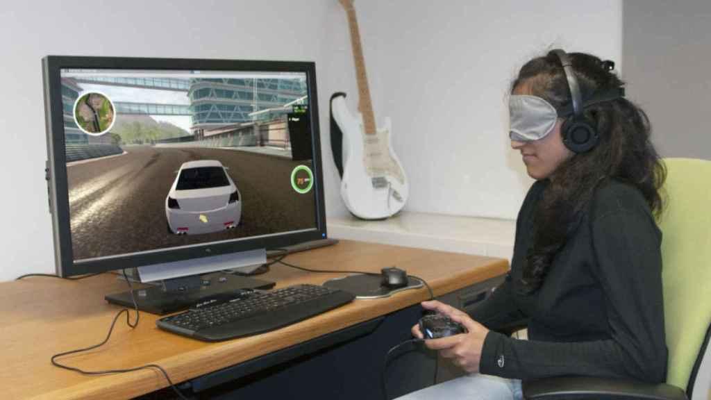 rad pantalla de audio de carreras personas ciegas juegos de carreras de coches