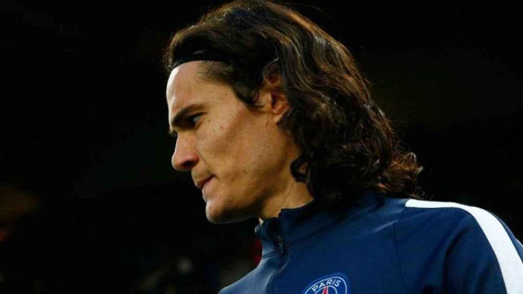 Cavani, delantero del Paris Saint-Germain. Foto: psg.fr
